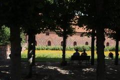 Vor Frue修道院,一个卡默利特平纹薄呢修道院在Elsinore Helsing 免版税库存照片
