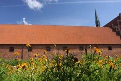Vor Frue修道院,一个卡默利特平纹薄呢修道院在Elsinore Helsing 库存图片