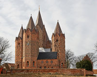 Vor Frue Kirke - Kalundborg, Дания Стоковое Изображение RF