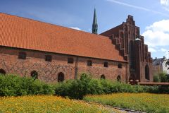 Vor Frue monaster, Karmelicki monaster w Elsinore Helsing Obraz Royalty Free