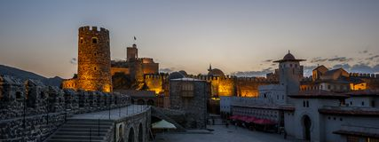 Vor kurzem wieder hergestellte medieva Festung von Rabat Stockbild