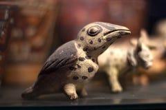 Vor nannte der keramische Inkavogel 'Huacos von peruanischer Kultur Chancay stockfotografie