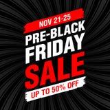 Vor-schwarze Freitag-Verkaufsfahne Lizenzfreie Stockbilder