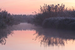 Vor Sonnenaufgang auf See stockbild