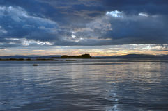 Vor Sonnenuntergang Stockbild