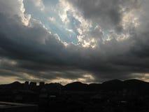 Vor starkem Regen Stockbild