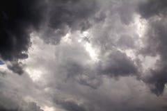 Vor Sturm des starken Regens Stockfoto