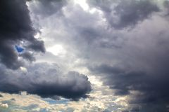 Vor Sturm des starken Regens Lizenzfreie Stockbilder