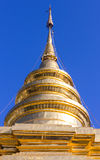 Vora vihan, pagoda de Chomthong del sri de Wat Pra That en Chiangmai foto de archivo libre de regalías