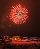 2015 Vorabendfeuerwerke des neuen Jahres Stockfotos