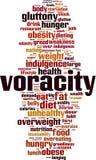 Voracity word cloud. Concept. Vector illustration vector illustration