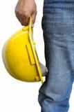 Vorarbeiter auf weißem Hintergrund Lizenzfreies Stockfoto