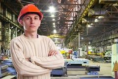 Vorarbeiter in der Werkstatt Stockfoto