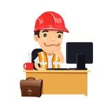 Vorarbeiter an seinem Schreibtisch lizenzfreie abbildung