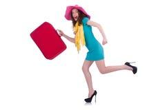 Vorbereiten der jungen Frau Lizenzfreie Stockfotos