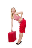Vorbereiten der jungen Frau Lizenzfreies Stockfoto