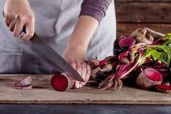 Vorbereiten der vegetarischen Mahlzeit Lizenzfreies Stockbild