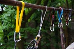 Vorbereiten für kletterndes Training Lizenzfreie Stockfotos