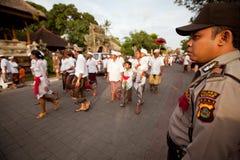 Vorbereiten für Nyepi - neues Jahr des Balinese Stockfotos