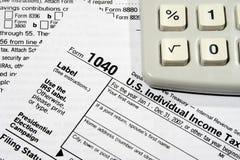 Vorbereiten Ihrer Steuererklärung Lizenzfreies Stockfoto