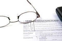 Vorbereiten von Steuern Lizenzfreies Stockbild
