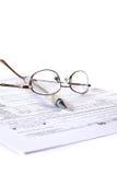Vorbereiten von Steuern Stockbild
