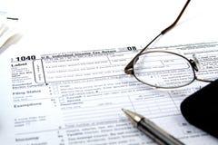 Vorbereiten von Steuern Lizenzfreie Stockbilder