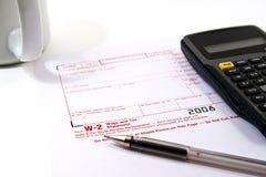 Vorbereiten von Steuern Stockfoto