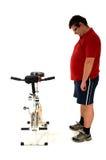 Vorbereiten zum Radfahren Stockfoto