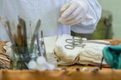 Vorbereitete Werkzeuge vor Chirurgie Stockfotografie