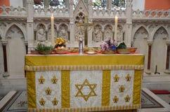 Vorbereiteter Ernte-Altar Stockbild