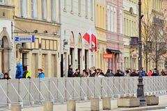 In Vorbereitung auf noch eins Gedenken des Smolensk-Flugzeugabsturzes Lizenzfreies Stockbild