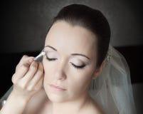 Vorbereitung der Braut Lizenzfreie Stockbilder