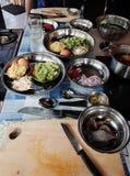 Vorbereitung des Kochens Lizenzfreie Stockbilder