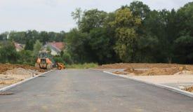 Vorbereitung für den Bau eines neuen Wohndorfs stockfoto