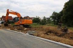 Vorbereitung für den Bau eines neuen Wohndorfs stockbilder