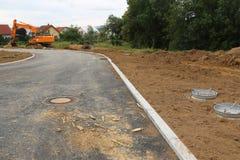 Vorbereitung für den Bau eines neuen Wohndorfs lizenzfreies stockbild