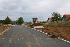 Vorbereitung für den Bau eines neuen Wohndorfs stockfotografie