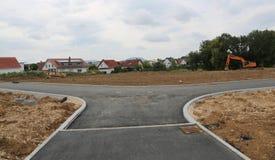 Vorbereitung für den Bau eines neuen Wohndorfs stockbild