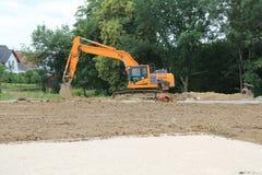 Vorbereitung für den Bau von neuen Häusern lizenzfreie stockfotos