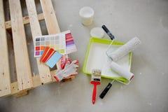 Vorbereitung für die Färbung des Raumes Lizenzfreie Stockbilder