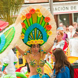 Vorbereitung für Karnevalsparade, Santa Cruz, 2013 Lizenzfreie Stockfotos
