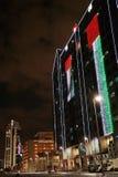 Vorbereitung für UAE-Nationaltag in Abu Dhabi Stockbild