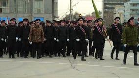 Vorbereitung für Victory Parade stock video footage