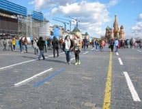 Vorbereitung für Victory Parade Stockbild