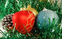 Vorbereitung für Weihnachtsfeiertage, Dekorationen Stockfotos