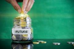 Vorbereitung für zukünftiges und Finanzkonzept Stockfotografie