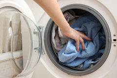 Vorbereitung für das Waschen Lizenzfreies Stockfoto