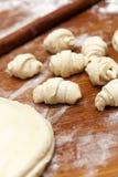 Vorbereitung von Bäckereiprodukten Lizenzfreies Stockbild