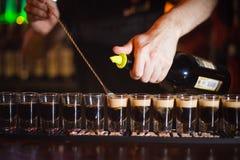 Vorbereitung von Cocktails für eine Parteinacht Lizenzfreies Stockfoto